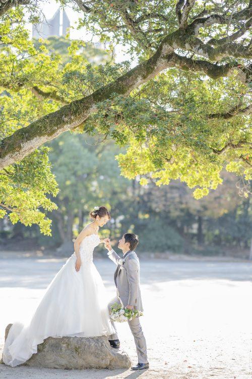 ウェディングドレス&春日公園