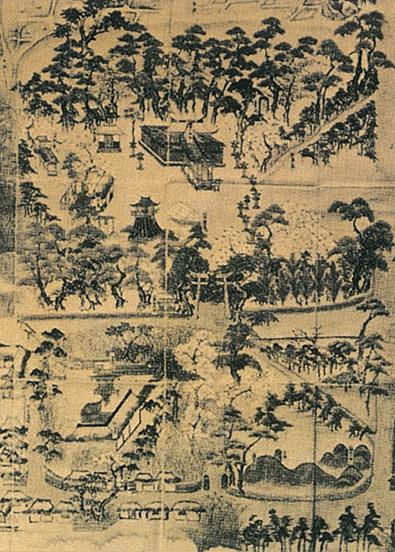 明和3年(1766年)の境内絵図